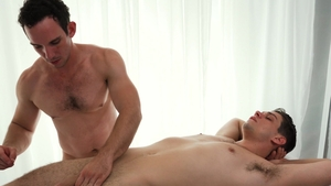 Missionary Boys - Young Elder Ence stroking threesome