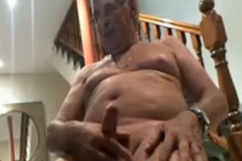 Yuri234 Silver Daddy old man Playing With His Uncut penis