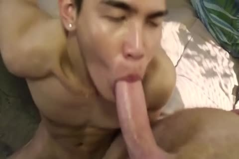 Smooth Little asian poked By rough White Top