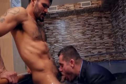 Muscle homosexual butt Sex With cream Flow