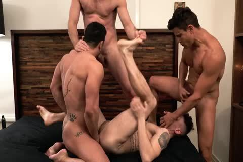 Asher Hawk Services Three Rock-Hard nude cocks
