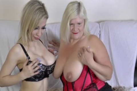 lesbo Gran Eats Out And dildos cookie