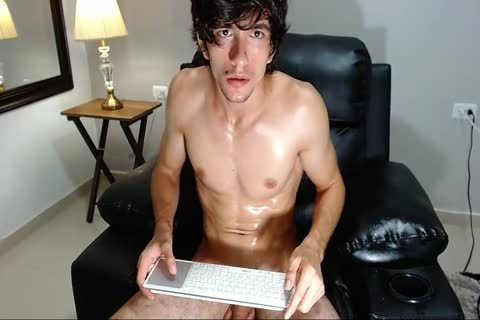 19yo pumped up lad Sebastian Strokes His large penis And love juice