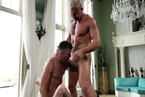 Two nasty Hung Dads dril A twink