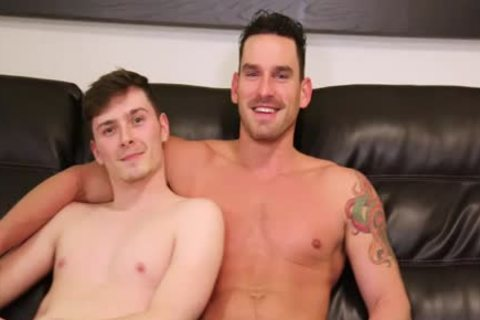 Straight gay drilling With gay Actor For The First Time