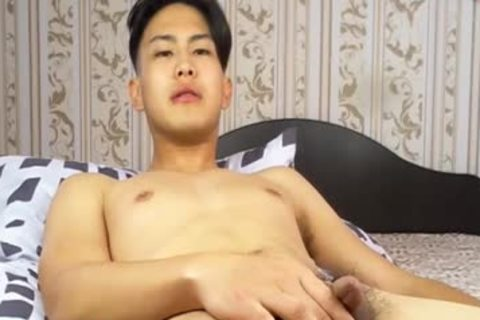 tasty Korean lad Tugging tiny weenie And Shotting Loads Of sperm