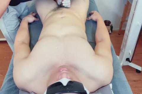 This peculiar Guest Likes Me And Wants To fuck Me, But I only Waxed His Pubic Hair And Tasted his sperm