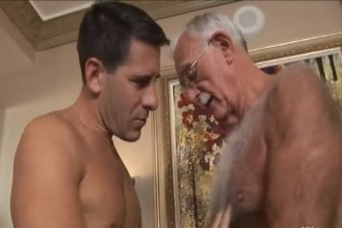 bushy grandad Mutual Masturbation With Younger Coworker