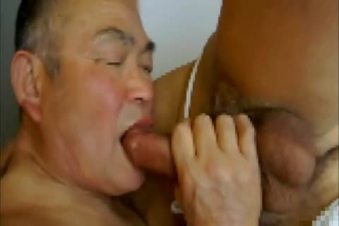 older Japanese Daddy And old man Flip pound #2