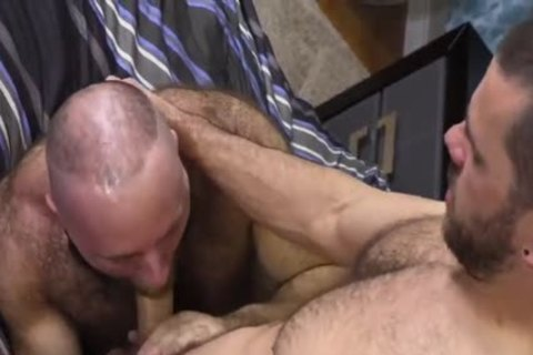 hairy Teddy Bear nailing massive Cocked Hunk