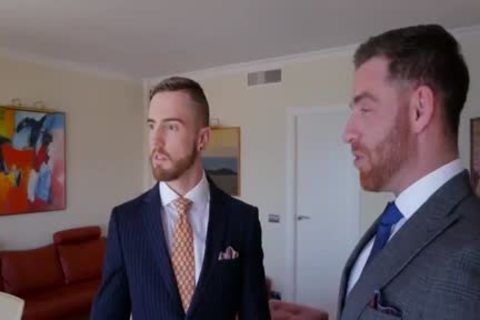 gay Suit blow job And butthole