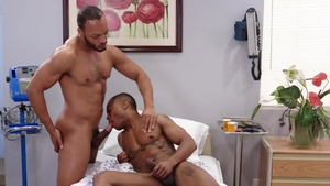 Noir Male: Dillon Diaz next to Jake Waters 69 in hospital