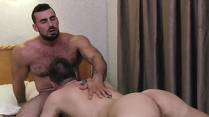 IconMale: Athletic and hairy Jaxton Wheeler ass fucking
