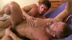 IconMale.com: Big penis Ty Roderick blowjob cum