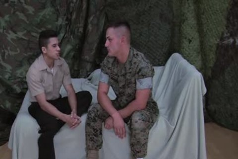 Lance Corporal Roque And Petty Officer Rizzo