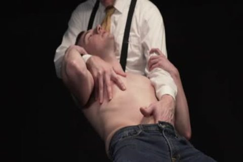 twink Moans while taskmaster Pulls his testicles And sex dildo pounds Him