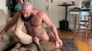MenOver30: Huge cock Alex Tikas sensual kissing