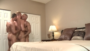 PrideStudios: Tattooed Dean Monroe threesome sensual kissing