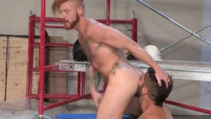 HotHouse: Buff Adam Ramzi nailed by big balls stud