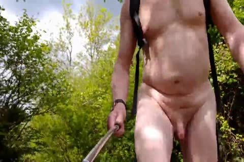 A naked Summer Walk In A Popular Local Nature Reserve