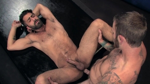 RagingStallion.com - Huge balls Adam Ramzi fingering