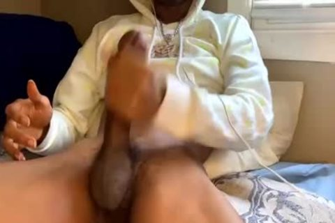 chap With large cock Masturbating With A Fleshlight